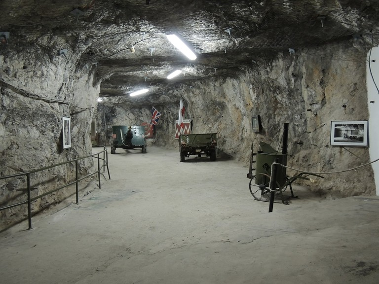 WWII machinery and guns in the tunnels; courtesy www.visitgibraltar.gi