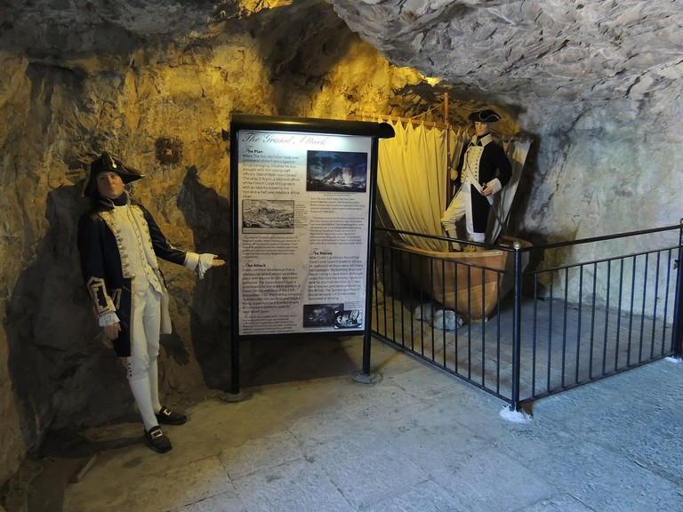 Helpful panels explain the function of the various spaces and tunnels; courtesy www.visitgibraltar.gi