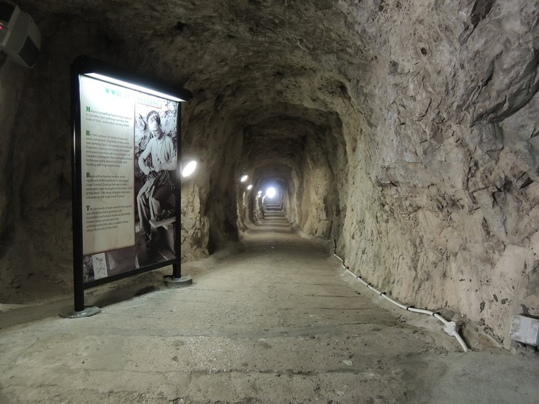 There are 35 miles of tunnels in the Rock; courtesy www.visitgibraltar.gi