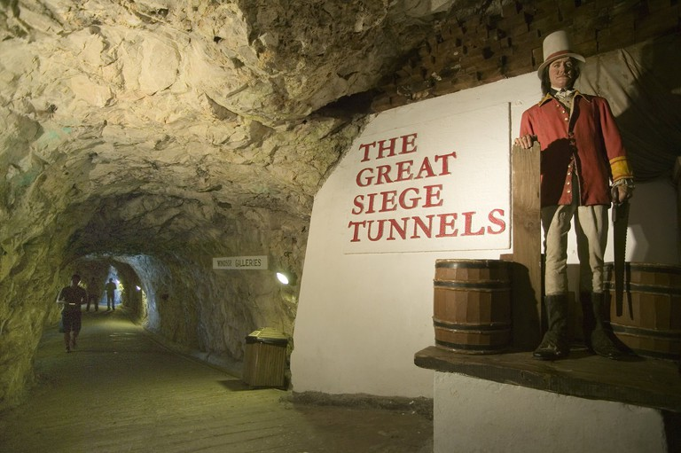 Entrance to the Great Siege Tunnels; courtesy www.visitgibraltar.gi