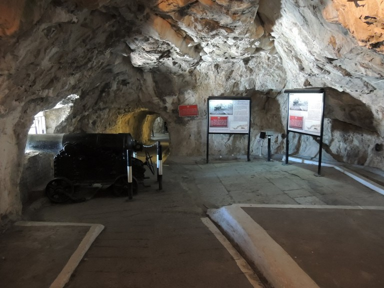 Ventilation holes were used to mount guns in the tunnels; courtesy www.visitgibraltar.gi