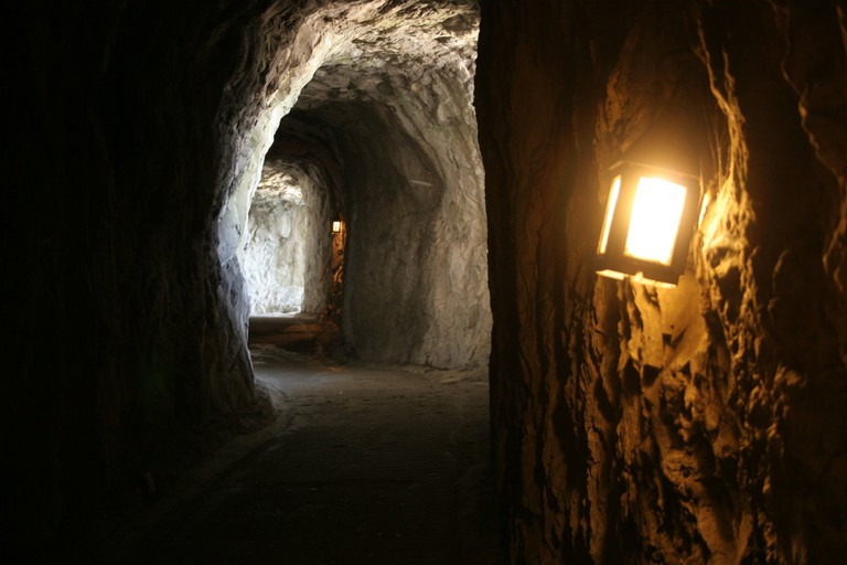 The darker sections of the tunnels can be a little spooky; courtesy of www.visitgibraltar.gi