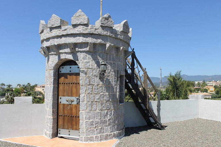 Spectacular views from the castle's turret; courtesy of Aida estate agency