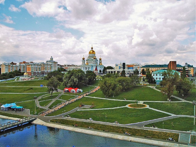 Pushkin's Park in Saransk