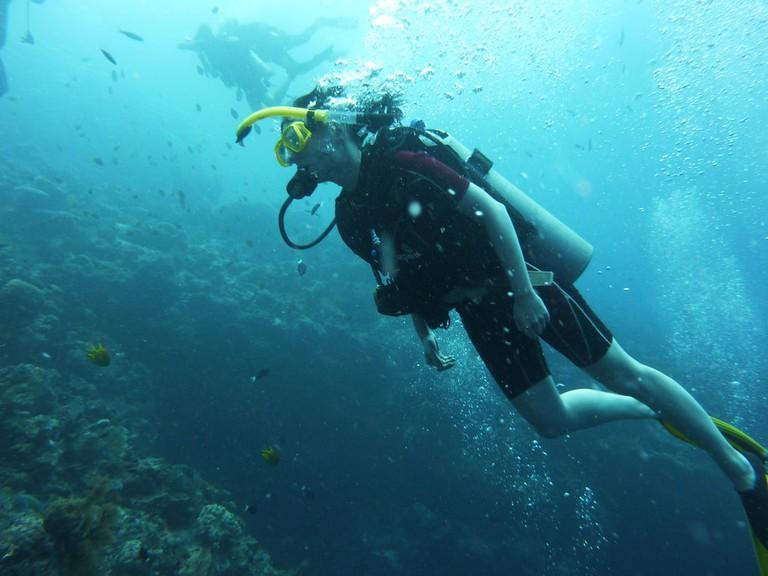 Scuba diving in Malaysia's beautiful coral reefs