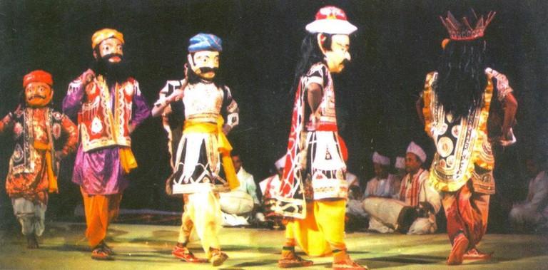 Bhawna (dance) performed wearing masks