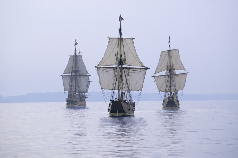 Replica ships off the coast of Jamestown, VA | © Joseph Sohm
