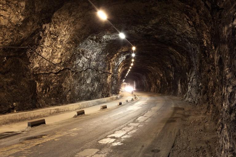 Some of Gibraltar's tunnels were in fact underground roads; Philip Lange/shutterstock