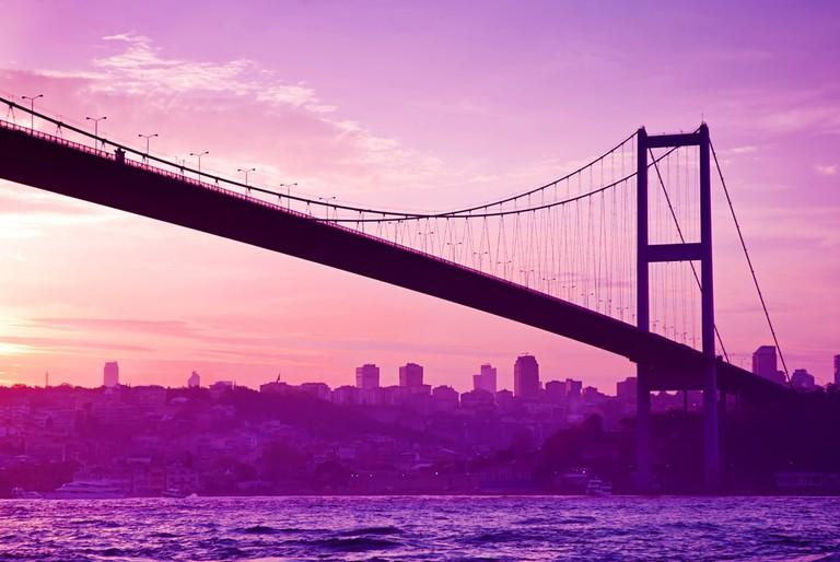 Bosphorus Bridge in Istanbul at sunset   © Olena Tur/Shutterstock