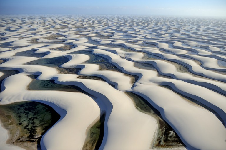 The undulating dunes of Lencois Maranhenses National Park