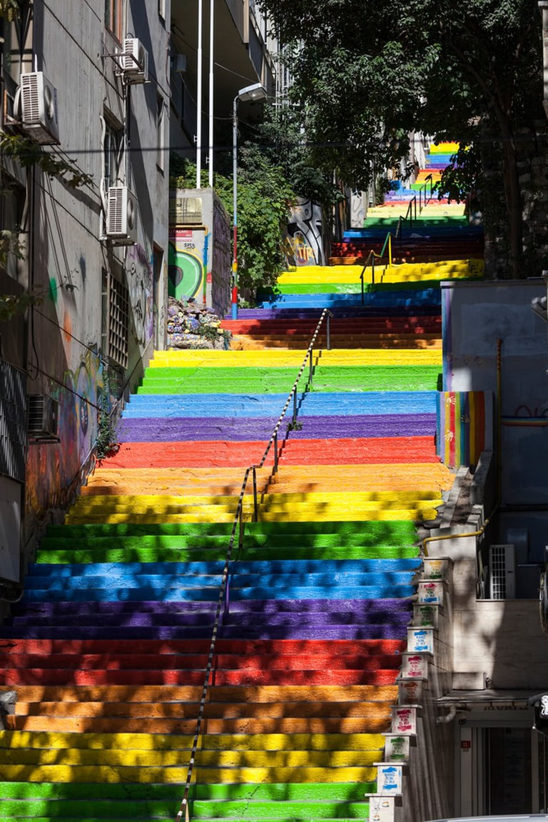 Rainbow steps   © Koraysa/Shutterstock