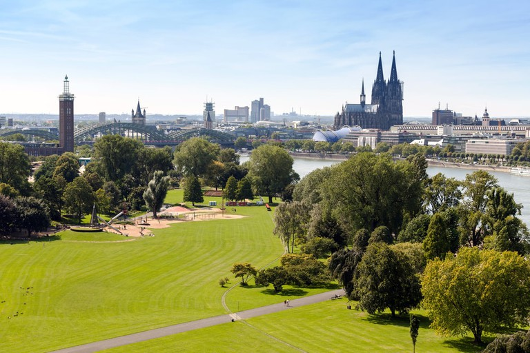 View over Cologne's Rheinpark