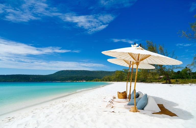 Stunning powder white sand beaches