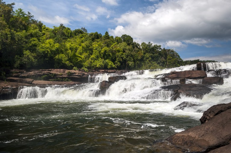 A waterfall in the Cardamom Mountains