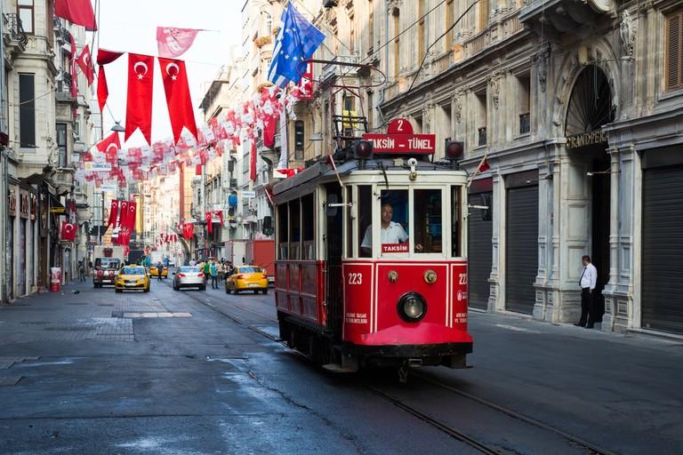 Old Instanbul tram on Istiklal Street   © Dmitry Birin/Shutterstock