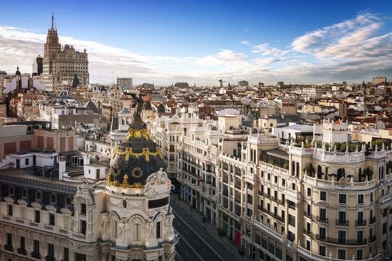The view from the rooftop of Círculo de Bellas Artes