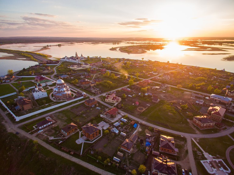 Sviyazhsk at sunset