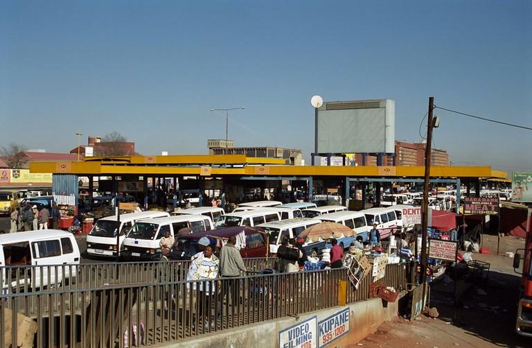 Bus station in Soweto, Johannesburg, full of minibuses   © Attila JANDI/Shutterstock