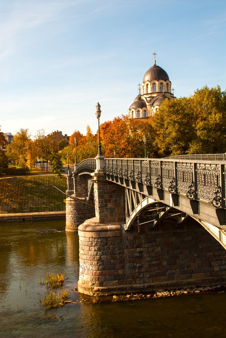 Žveryno Bridge in Vilnius, Lithuania | © Jeremy_Ellis/Shutterstock