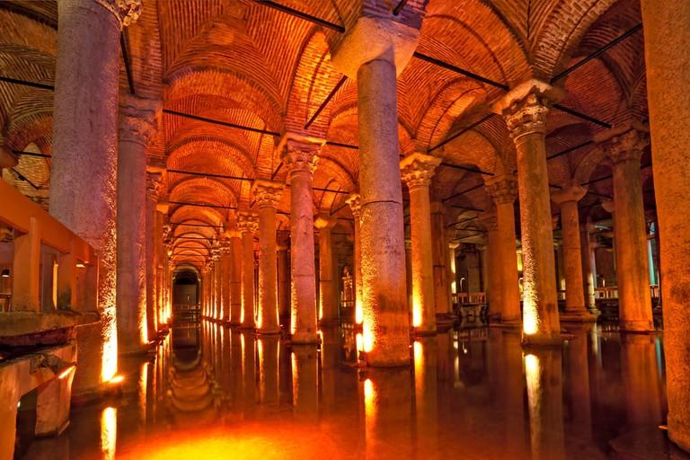 Underground Basilica Cistern, Istanbul, Turkey   © Luciano Mortula/Shutterstock