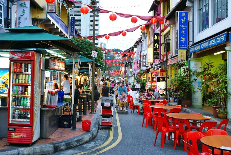 Street dining and street food are very popular in Singapore.