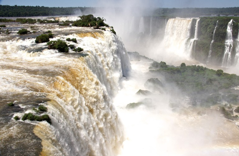 The thunderous waters of Iguazu Falls