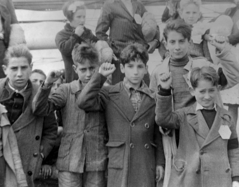Spanish children during the Civil War