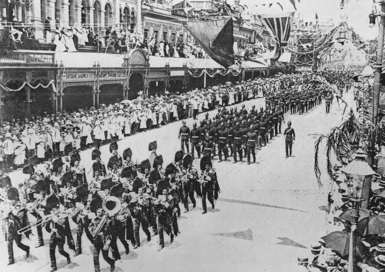 Australian Commonwealth celebration procession in Brisbane, 1901