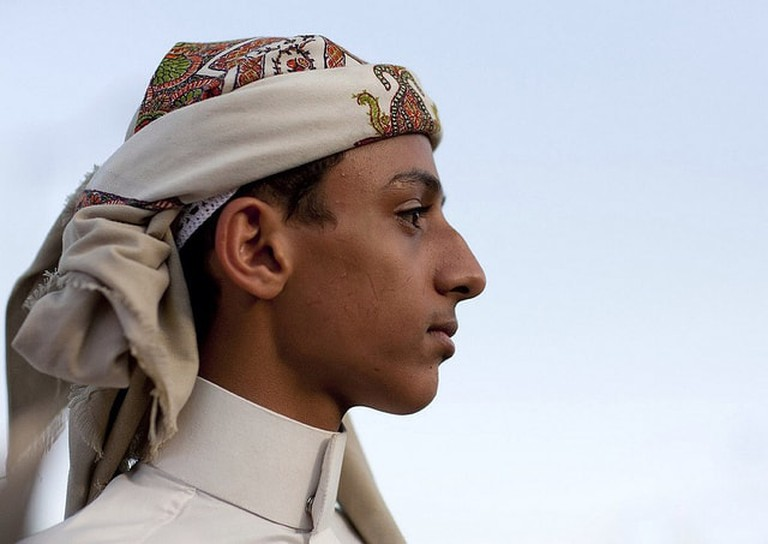 Young Emirati man