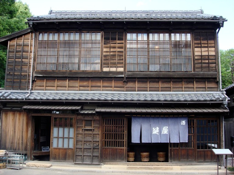 Historical recreation of a store in Tokyo during the Edo Period, at the Open Air Architectural Museum