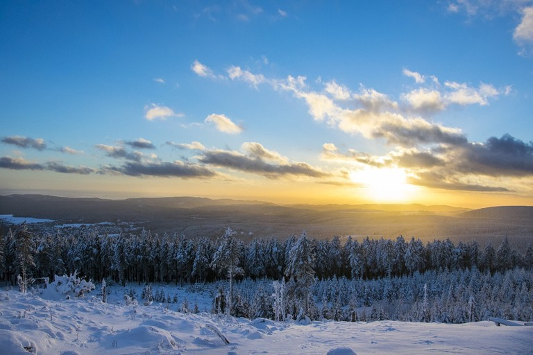 Sunset in Harz