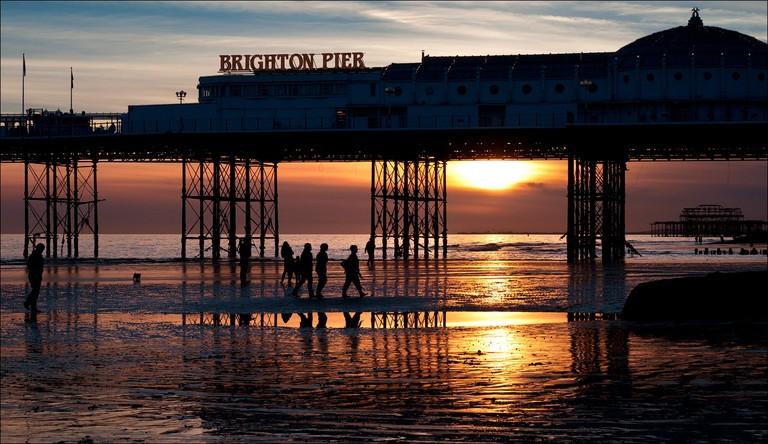 Sunset at Brighton Pier