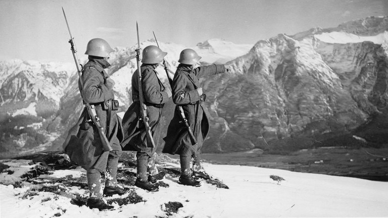 The Swiss army guarded Alpine passes during WWII