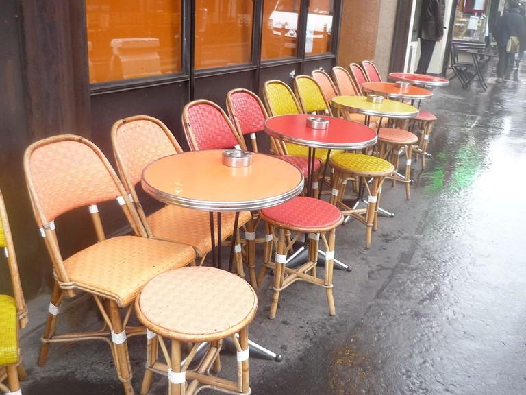 Terrasse du café Le Tournesol