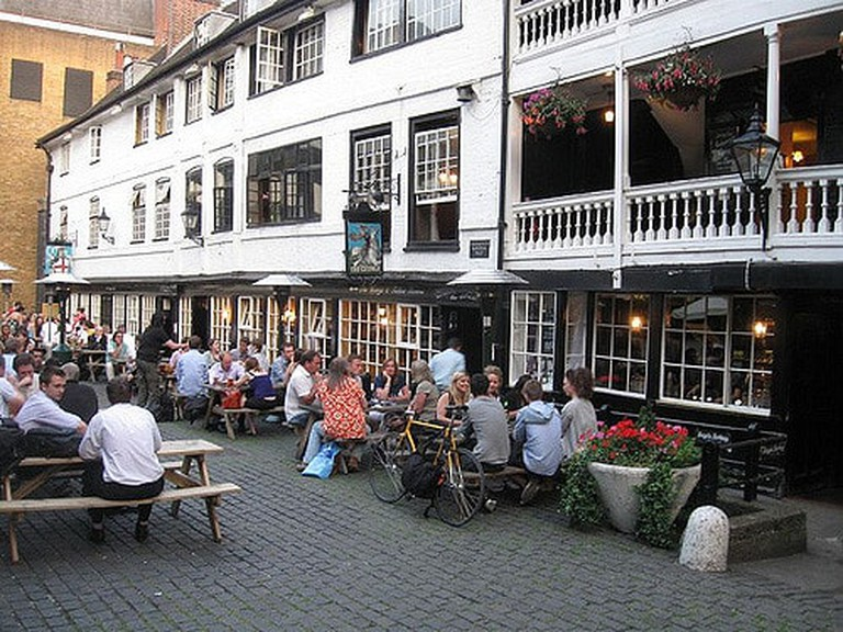 The George Inn's courtyard