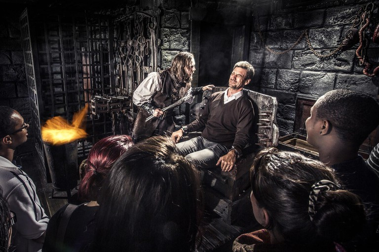 The Torturer interactive show at the London Dungeon