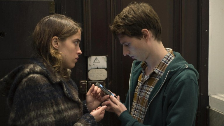 Adèle Haenel and Olivier Bonnaud in The Unknown Girl