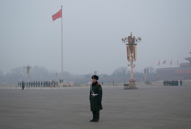 Flag Raising Ceremony on the Tian'anmen Square