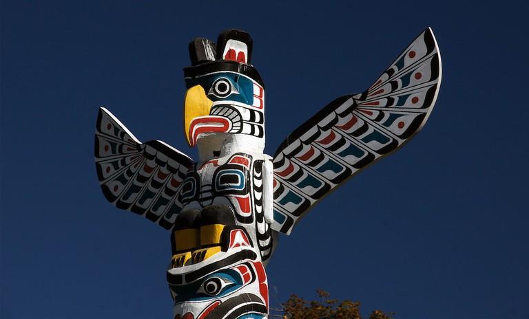 Totem Poles Stanley Park. Vancouver