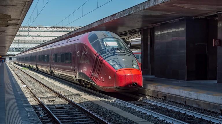 Train at Roma Termini station