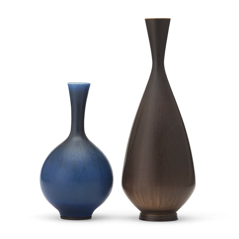 Two stoneware vases by Berndt Friberg