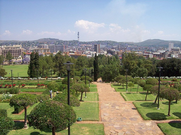 View over Pretoria from the Union Building Gardens