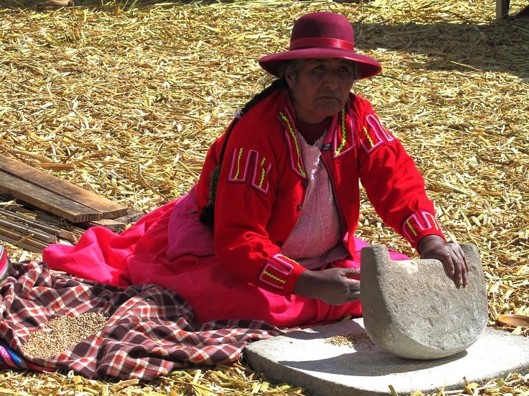 Uros elderly woman
