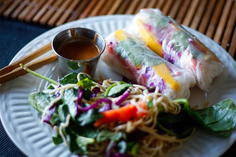 Veggie spring rolls are so full of flavor