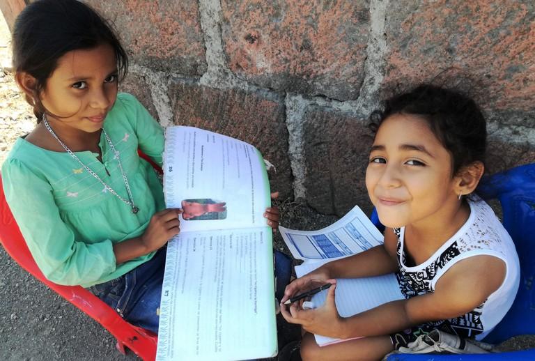 Volunteering at a primary school, Nicaragua