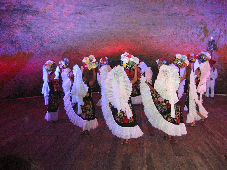 End of the day show at Xcaret