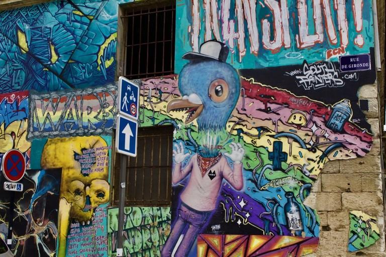 Street art wall|