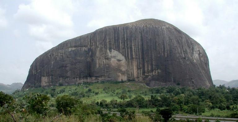 Zuma Rock on the outskirts of Abuja