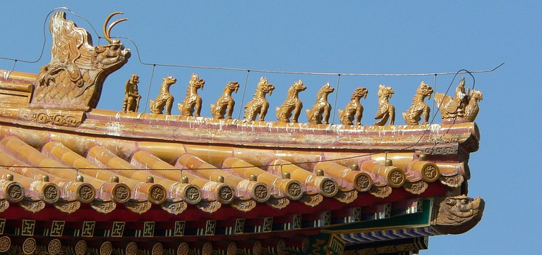 Mythical animals on the ridge of the Hall of Supreme Harmony