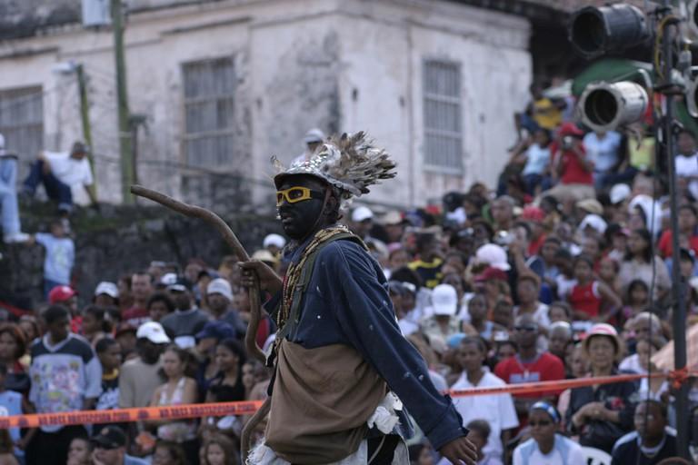 Carnival parade in Colón, Panama